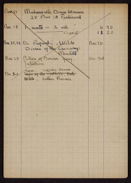 Denise Ulmann 1919 card