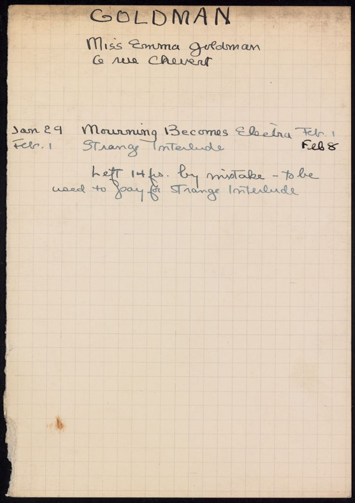 Emma Goldman 1932 card (large view)