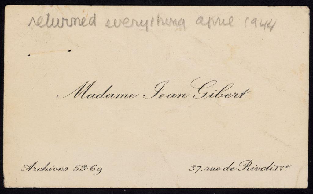 Madeleine Gibert Blank card (large view)