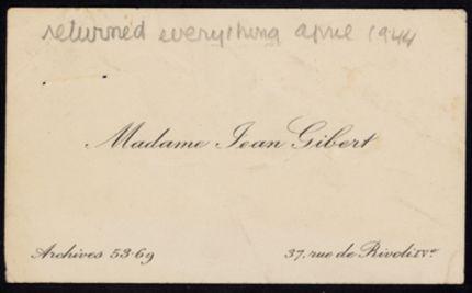 Madeleine Gibert Blank card