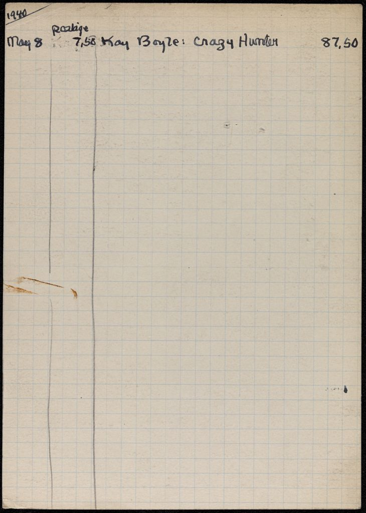 Marguerite Caetani 1940 card (large view)