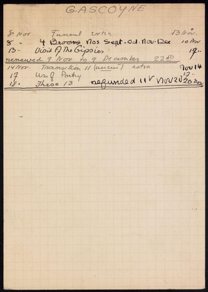 David Gascoyne 1933 card (large view)