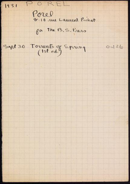 Jacques Porel 1931 card