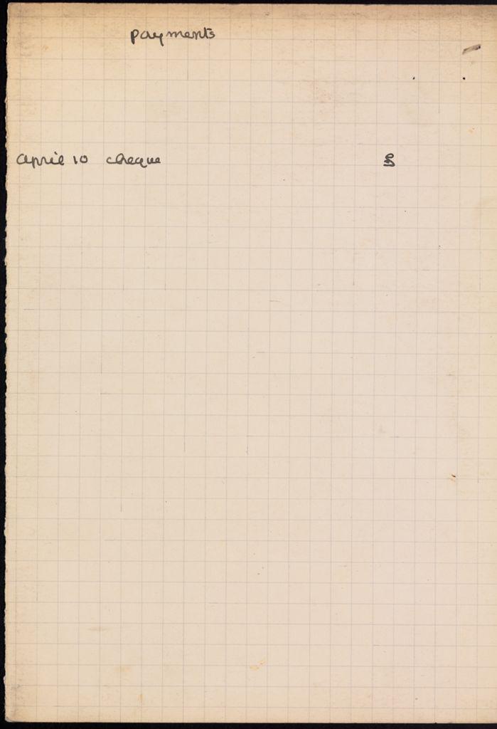 C. K. Ogden Blank card (large view)