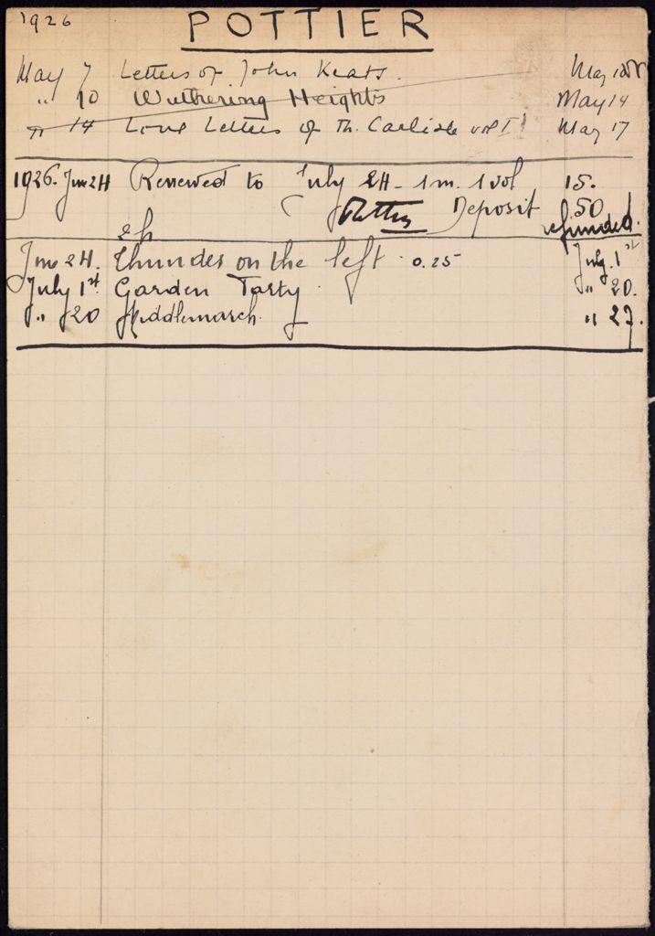 Ph. Pottier 1926 card (large view)