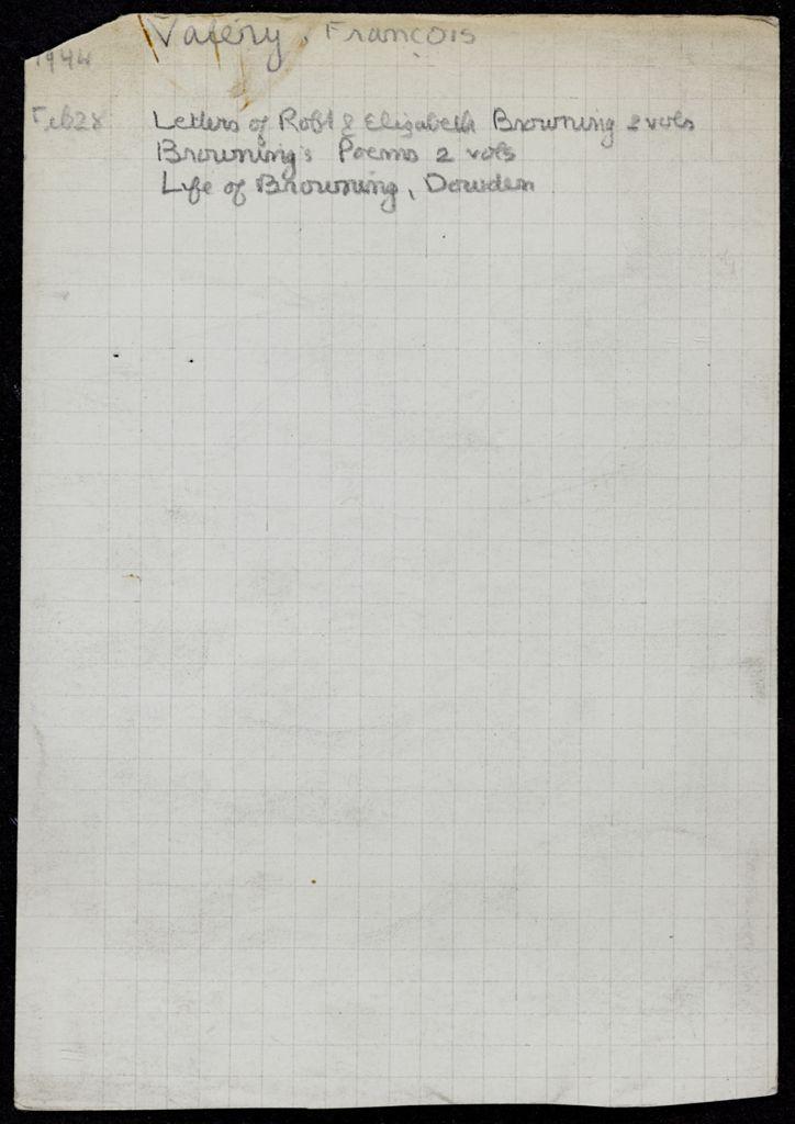 François Valéry 1944 card (large view)