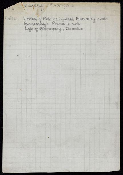 François Valéry 1944 card