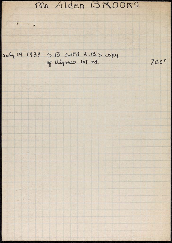 Alden Brooks 1939 card (large view)