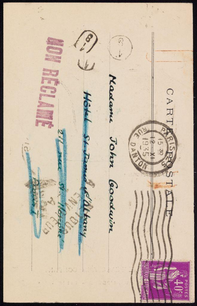 Mrs. John Goodwin Blank card (large view)