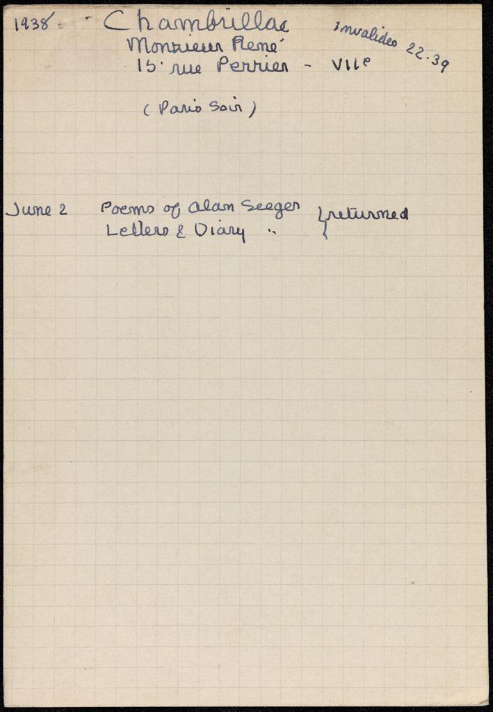 René Chambrillac 1938 card (large view)
