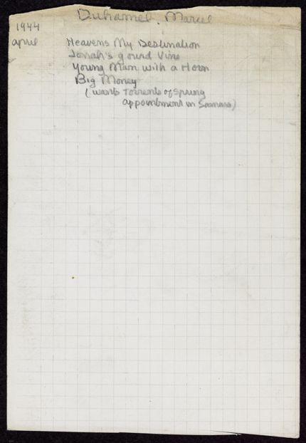Marcel Duhamel 1944 card