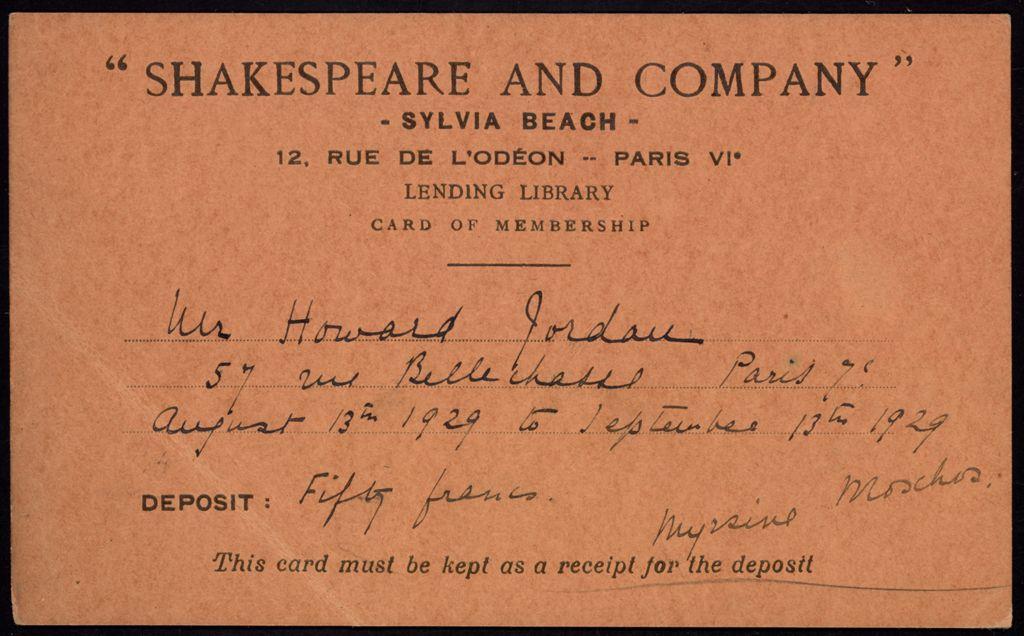 Howard Jordan Blank card (large view)