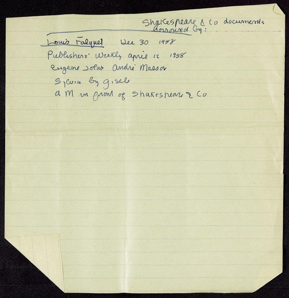 Louis Falquel 1958 card (large view)