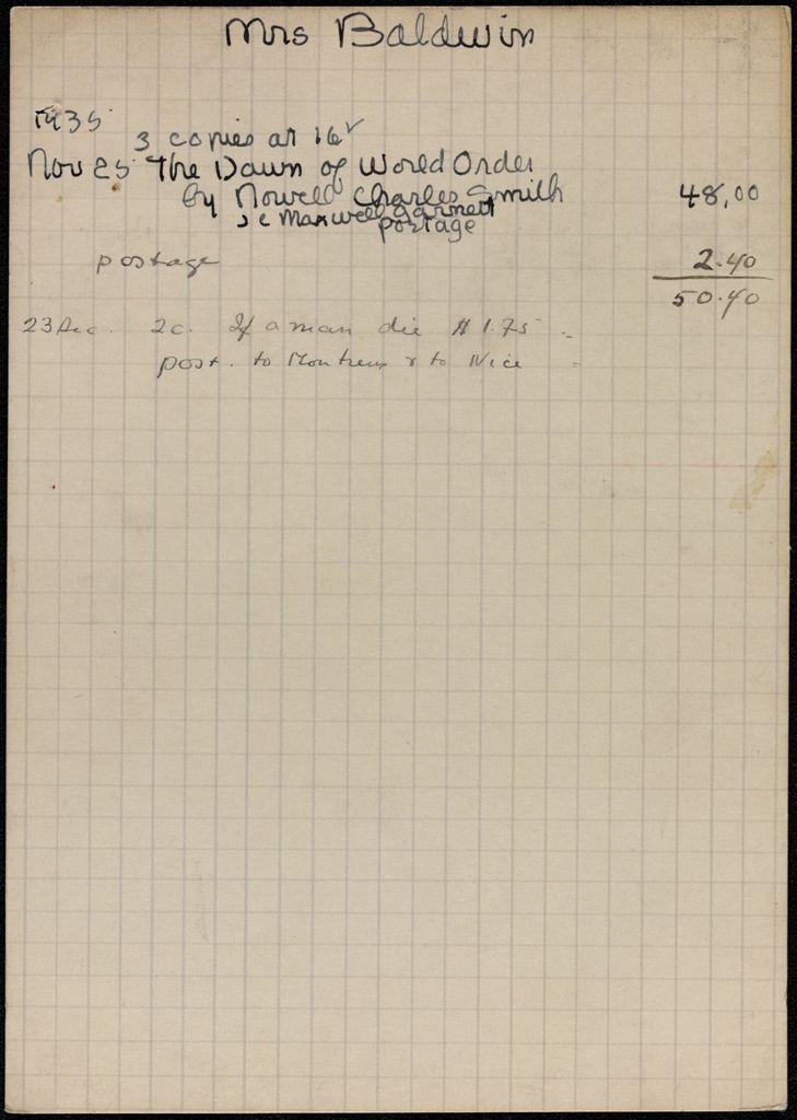 Helen Baldwin 1935 card (large view)