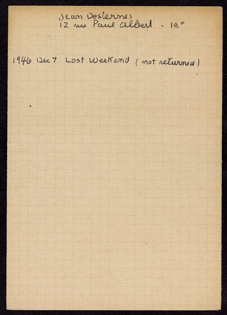 Jean Deslernes 1946 card (large view)