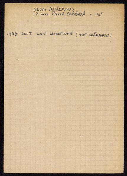 Jean Deslernes 1946 card