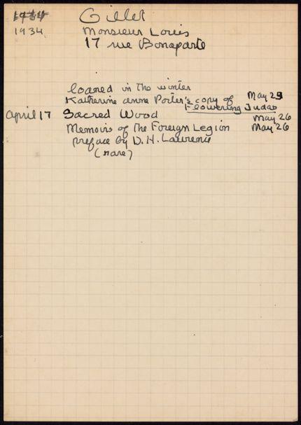 Louis Gillet 1934 card