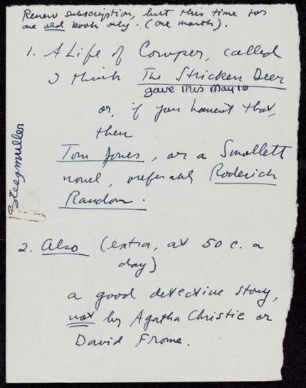 Francis Steegmuller 1938 card
