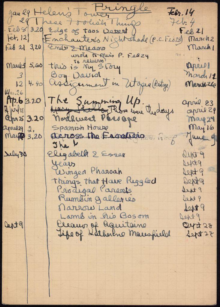 Lady Pringle 1938 card (large view)