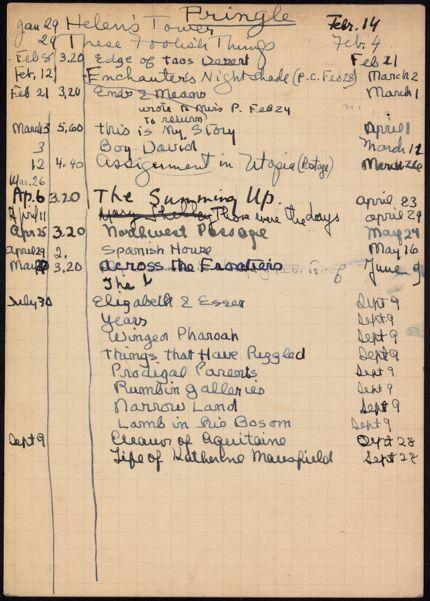 Lady Pringle 1938 card