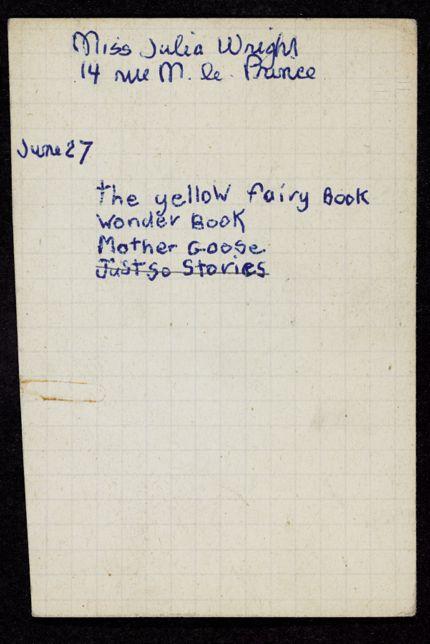 Julia Wright Unknown card