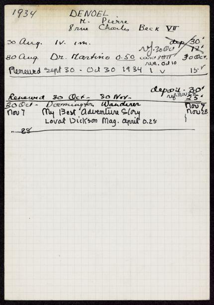 Pierre Denoel 1934 card