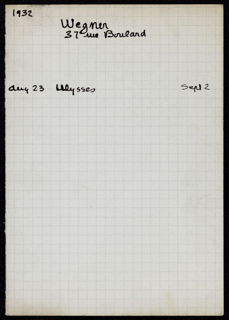 Max Christian Wegner 1932 card (large view)