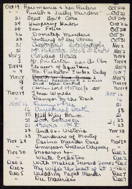 D. S. S. Mackenzie 1938 card