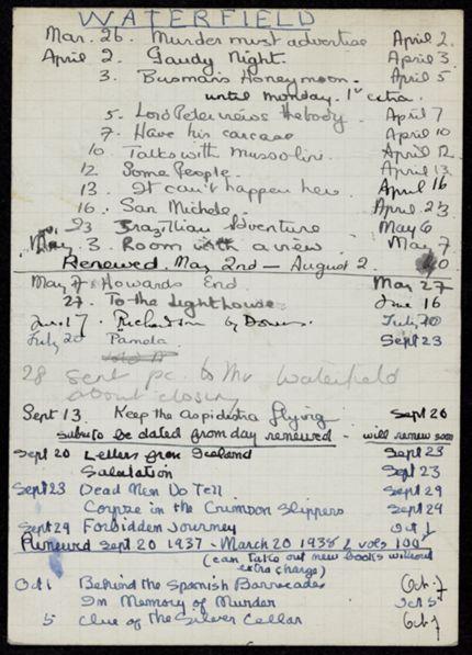 Gordon Waterfield 1937 – 1938 card