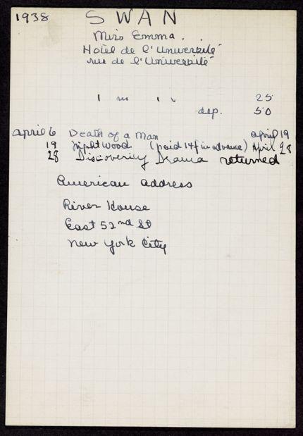 Emma Swan 1938 card