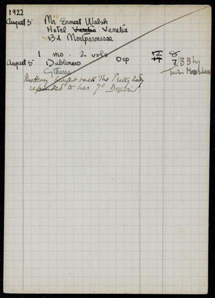 Ernest Walsh 1922 card