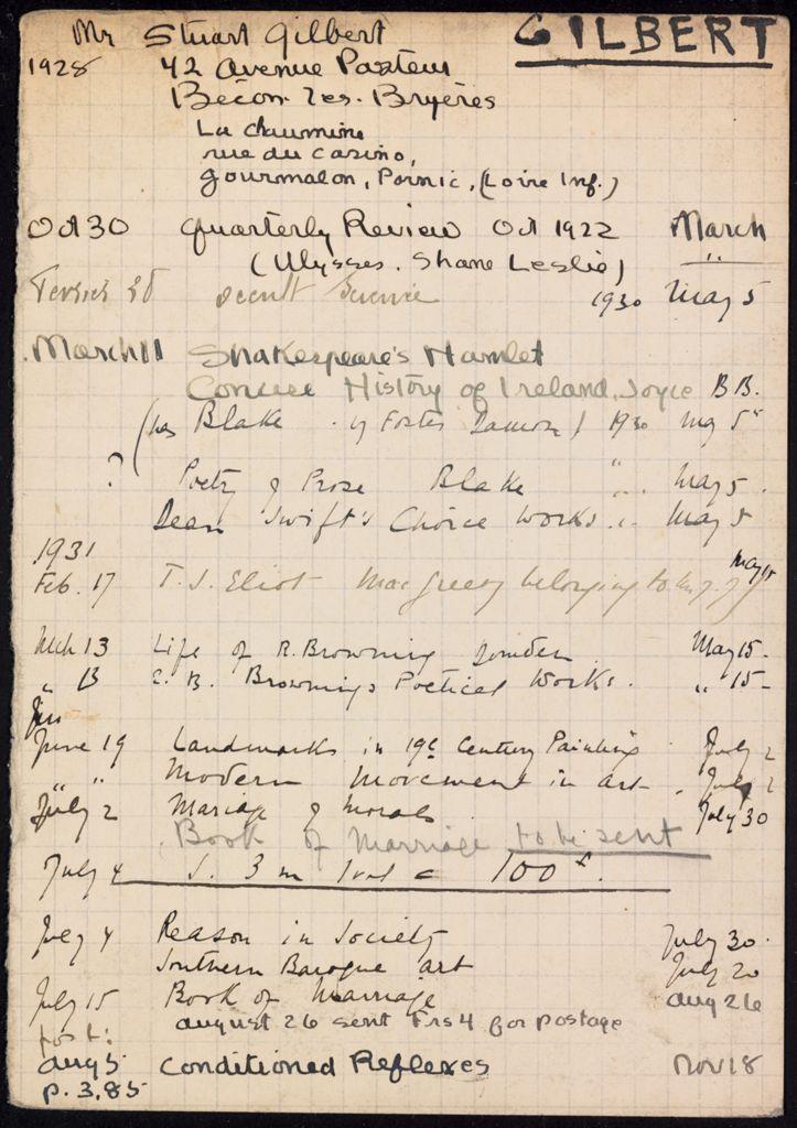 Stuart Gilbert 1928 – 1931 card (large view)
