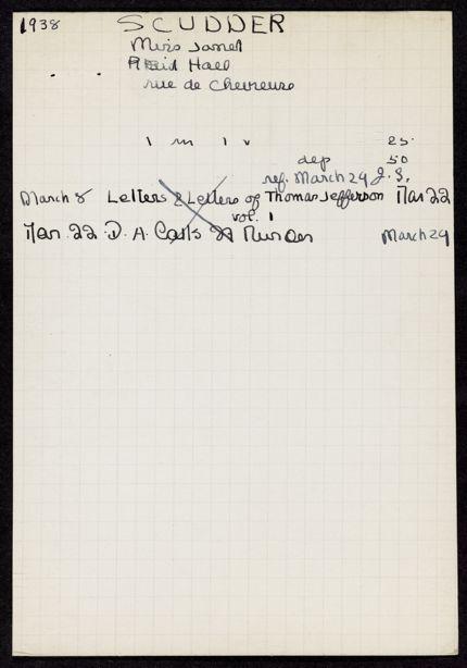 Janet Scudder 1938 card