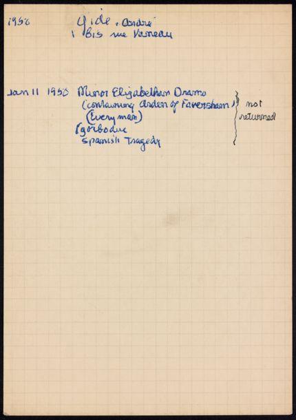 André Gide 1950 card