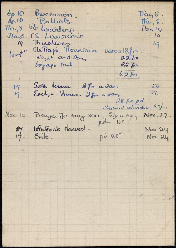 Louise Olga Bouniols 1936 card (large view)