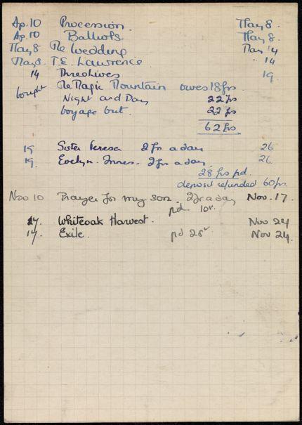 Louise Olga Bouniols 1936 card