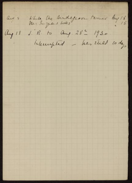 Mrs. P. Richard 1930 card