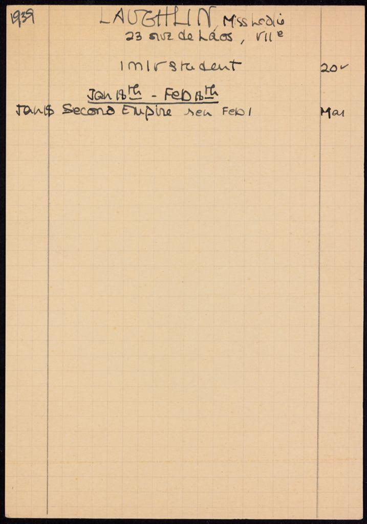 Leslie Laughlin 1939 card (large view)