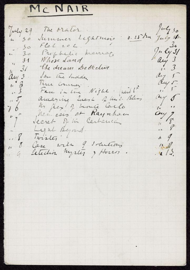 McNair 1929 card (large view)