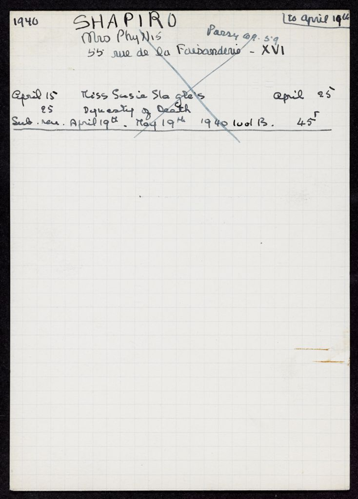 Phyllis W. Shapiro 1940 card (large view)