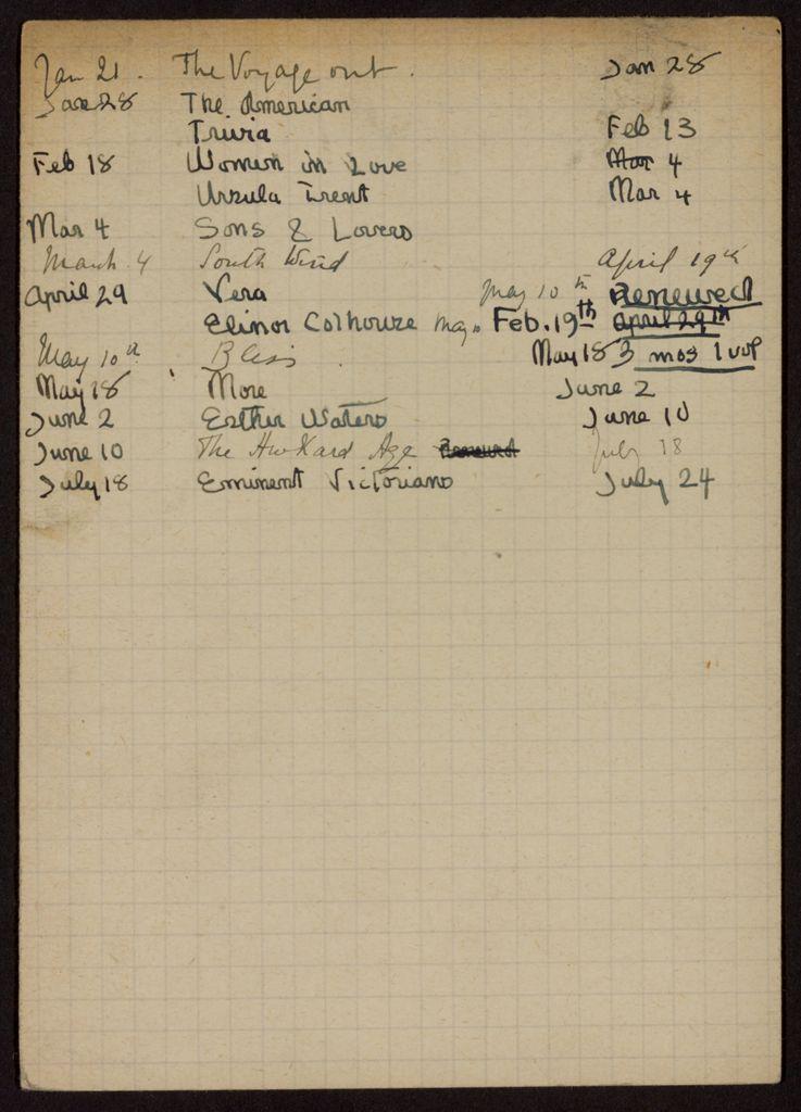 Matilda Rice 1922 card (large view)
