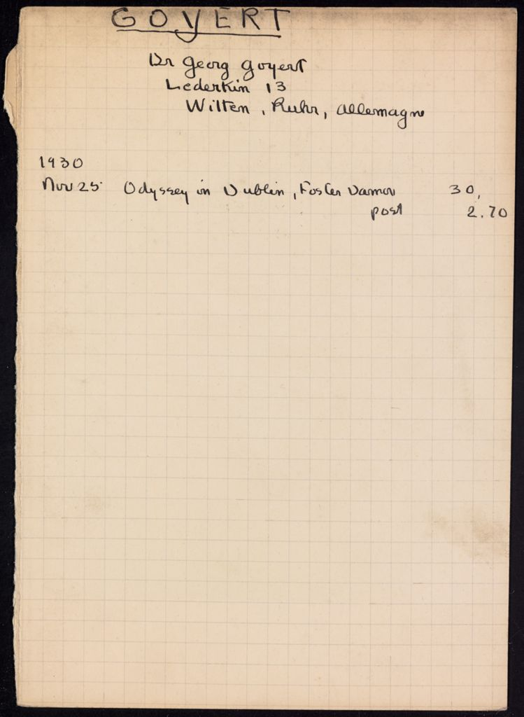 Georg Goyert 1930 card (large view)