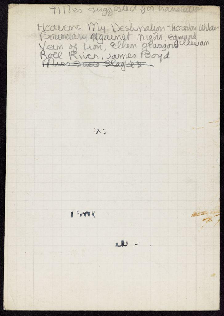 Anne Desclos Blank card (large view)