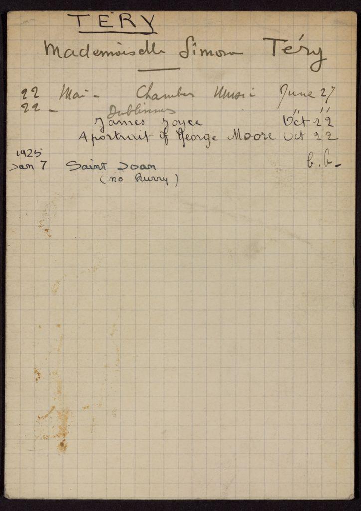 Simone Téry 1924 – 1925 card (large view)