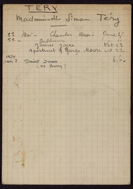 Simone Téry 1924 – 1925 card