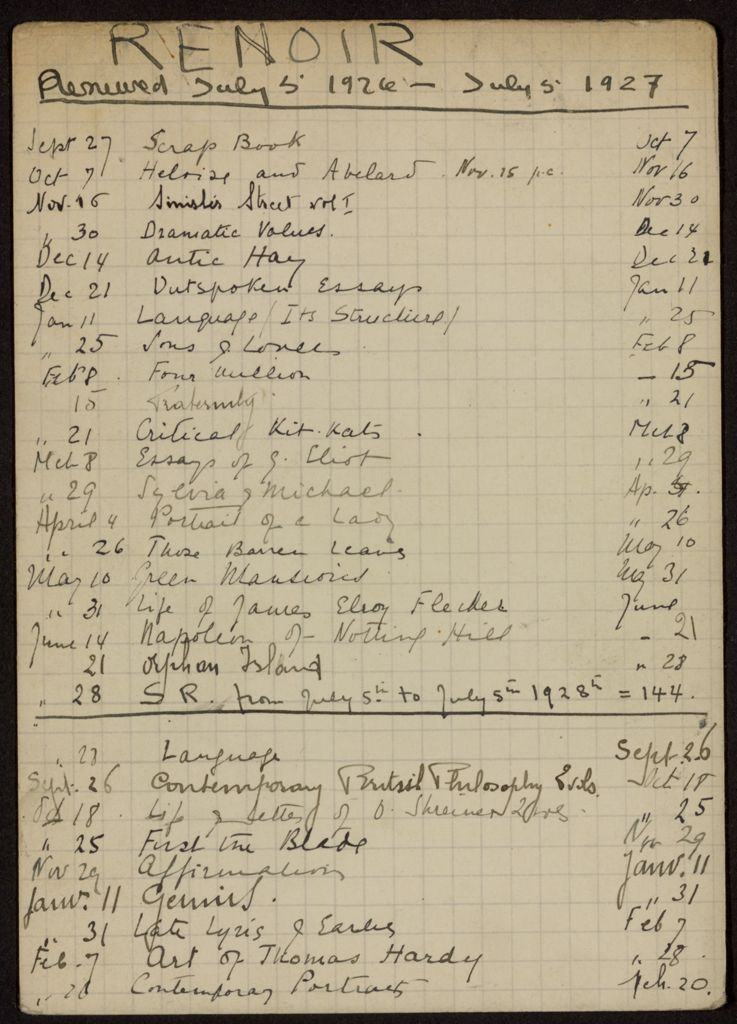 Edmond Renoir 1926 – 1928 card (large view)