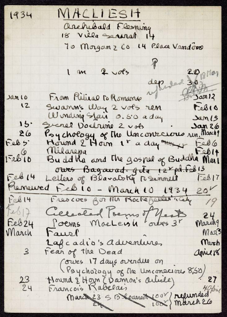 Ada MacLeish 1934 card (large view)