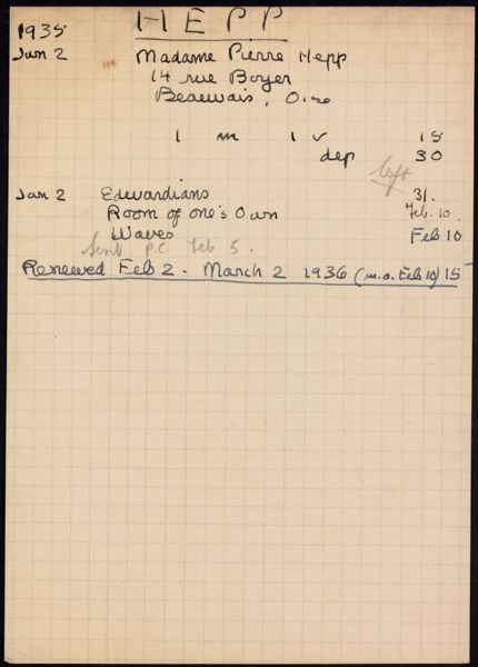 Camille Mayran 1936 card