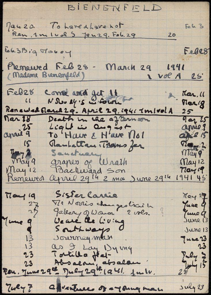 Bianca Lamblin 1941 card (large view)