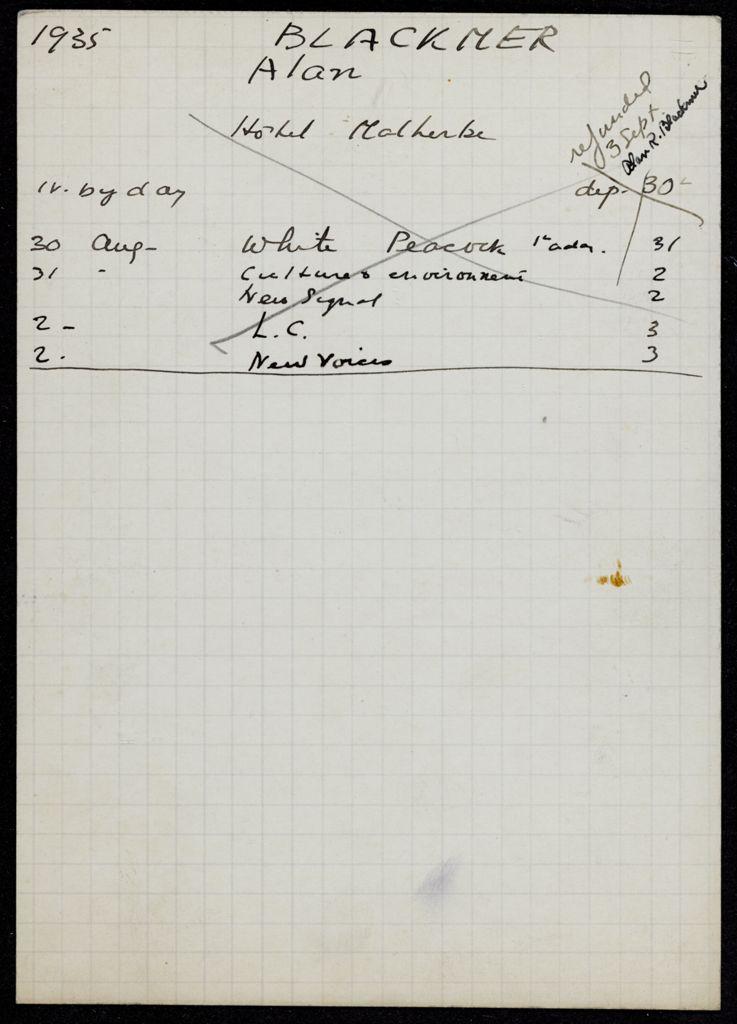Alan R. Blackmer 1935 card (large view)